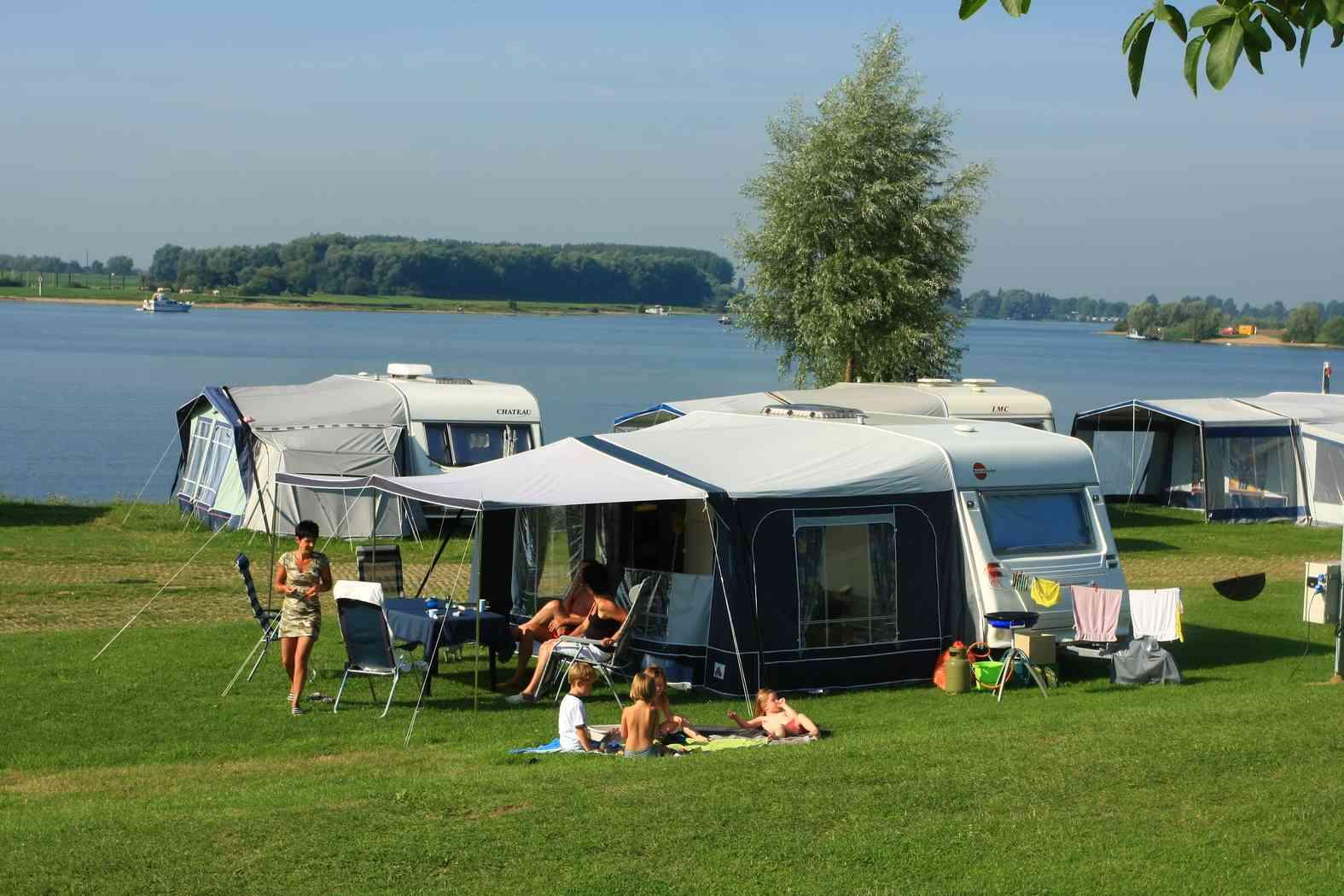 Campingplätze am wasser auf Ferienpark Eiland van Maurik